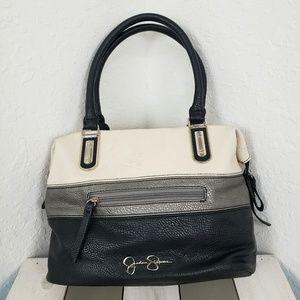 Jessica Simpson | Black Silver Cream Shoulder Bag
